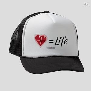 Heartbeat = Life, Kids Trucker Hat