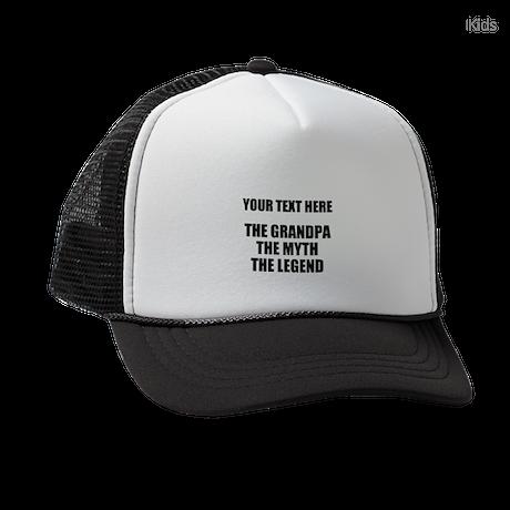 Custom Grandpa Myth Legend Kids Trucker hat