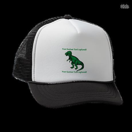 CUSTOM TEXT T-Rex Kids Trucker hat