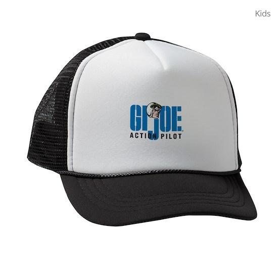 488c4dd3 GI Joe Action Pilot Kids Trucker hat by Hasbro - CafePress