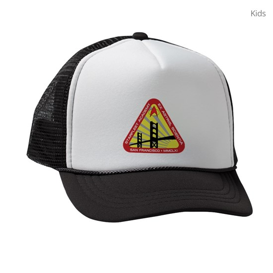 00fd372c38fde STAR TREK TNG SFA Kids Trucker hat by Surane - CafePress