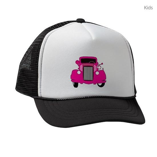 1cc95ca11 Pink Vintage Ford Kids Trucker hat