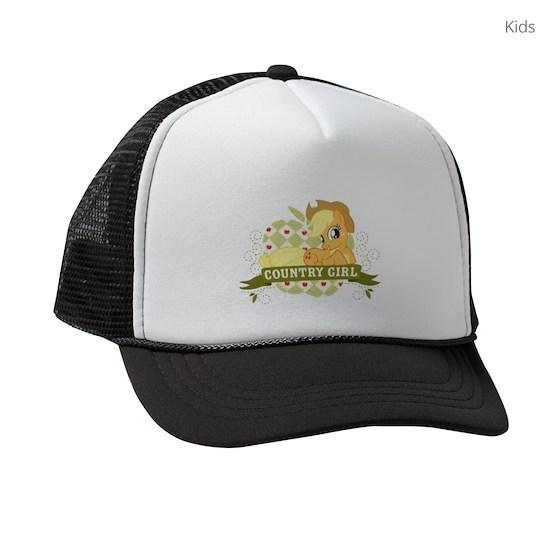 b0814c51c MLP Applejack Country Girl Dark Kids Trucker hat