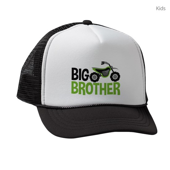 58d04faddb351 Motorcycle Big Brother Kids Trucker hat by Heather Rogers  Designs ...
