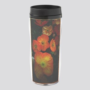Orange Poppies 16 oz Travel Mug