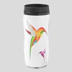 Colorful Hummingbirds Birds 16 oz Travel Mug