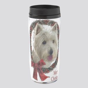 westie wreath 16 oz Travel Mug