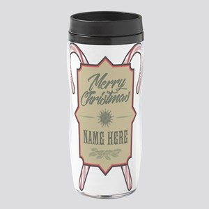 Merry Christmas Personalized 16 oz Travel Mug