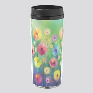 Watercolor Flowers 16 oz Travel Mug