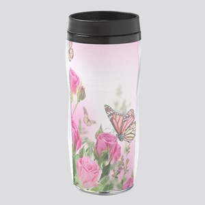 Butterfly Flowers 16 oz Travel Mug