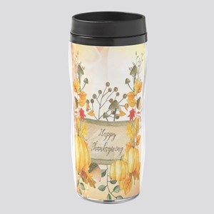 Happy thanksgiving with pumpkin 16 oz Travel Mug