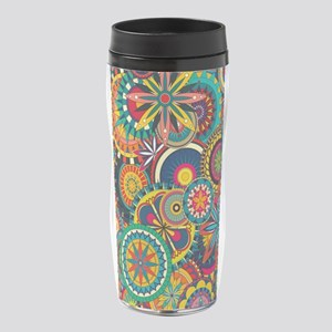 Funky Retro Pattern 16 oz Travel Mug