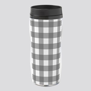 Black White Buffalo Plaid 16 oz Travel Mug