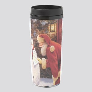 Santa Reading Note 16 oz Travel Mug