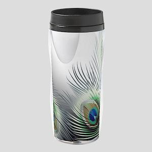 Peacock Feather Fantasy 16 oz Travel Mug