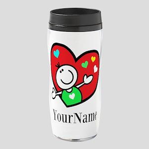 Happy Heart (p) 16 Oz Travel Mug