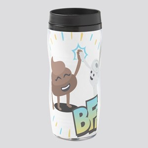 Emoji Poop Toilet Paper BFF 16 oz. Travel Mug