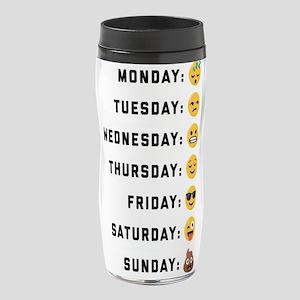 Emoji Days of the Week 16 oz Travel Mug