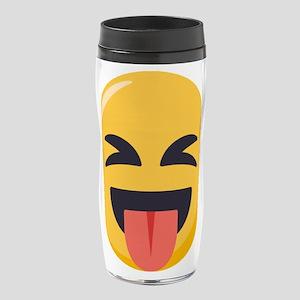 Face with stuck out tongue-Close 16 oz Travel Mug