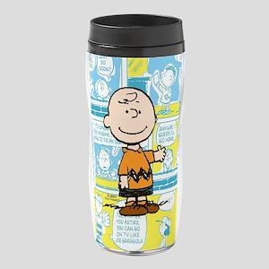 Charlie Brown Comic Strip 16 oz Travel Mug