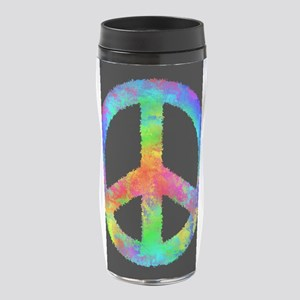 Abstract Rainbow Peace Sign 16 oz Travel Mug