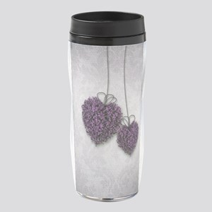 Purple Hearts 16 oz Travel Mug
