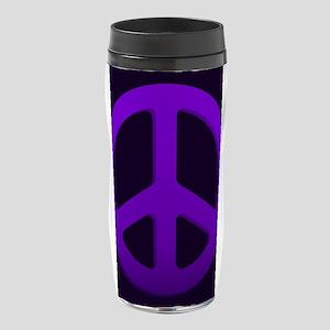 Purple Fade Peace Sign 16 oz Travel Mug