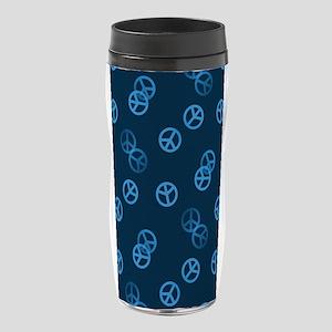 Random Blue Peace Sign 16 oz Travel Mug
