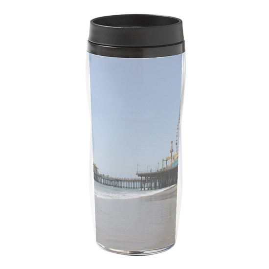 Santa Monica Pier 16 oz Travel Mug by Christine aka stine1 on Cafepress