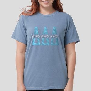 Delta Delta Delta Polk Womens Comfort Colors Shirt