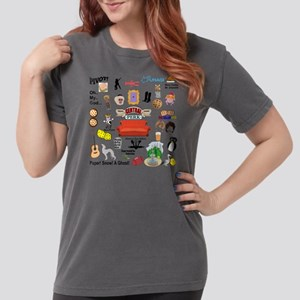 Friends TV Show Collag Womens Comfort Colors Shirt