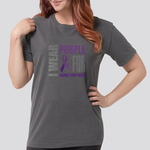 Purple Awareness Ribbo Womens Comfort Colors Shirt