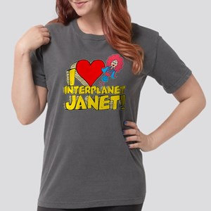 I Heart Interplanet Janet! Womens Comfort Colors S