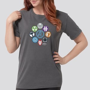 6ebe4a24b AvengersIcons dark Womens Comfort Colors Shirt