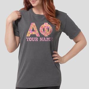 Alpha Phi Floral Womens Comfort Colors Shirt