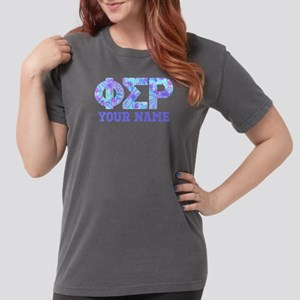 Phi Sigma Rho Floral Womens Comfort Colors Shirt