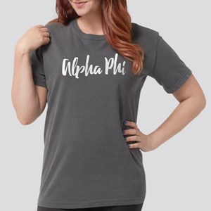 Alpha Phi Script Womens Comfort Colors Shirt