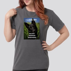 german shepherd black love wwith picture T-Shirt
