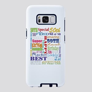 50th Birthday Typography Samsung Galaxy S8 Case