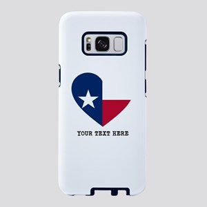 Custom Texas flag Heart Samsung Galaxy S8 Case