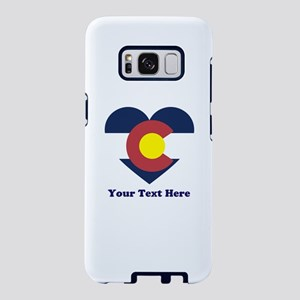 Colorado Flag Heart Persona Samsung Galaxy S8 Case