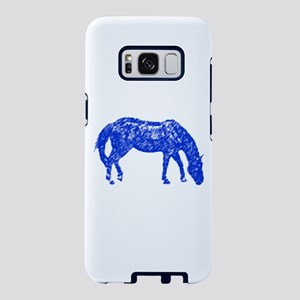 Quarter Horse Sketch (Blue) Samsung Galaxy S8 Case