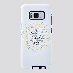 She Leaves A Little Sparkle Samsung Galaxy S8 Case