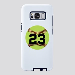 Softball Number Personalize Samsung Galaxy S8 Case