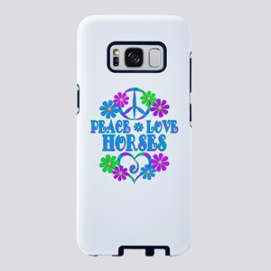 Peace Love Horses Samsung Galaxy S8 Case