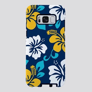 Navy-yellow-light blue-whit Samsung Galaxy S8 Case