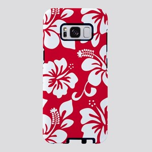 Red Hawaiian Hibiscus  Samsung Galaxy S8 Case