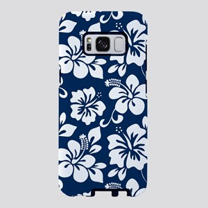 Navy Blue Hawaiian Hibiscus Samsung Galaxy S8 Case