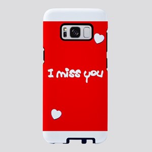 I Miss You Heart Valentines Samsung Galaxy S8 Case