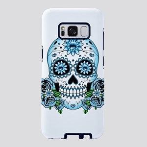 Blue Sugar Skull Samsung Galaxy S8 Case
